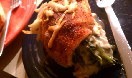spicy stuffed chicken
